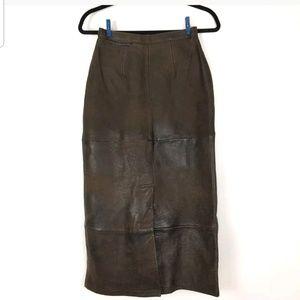 Banana Republic skirt 6 Real Leather Retro Vintage